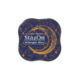 StazOn Mini Ink Pad: Midnight Blue