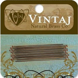 "Vintaj Natural Brass 1.5"" Pearl Headpins"