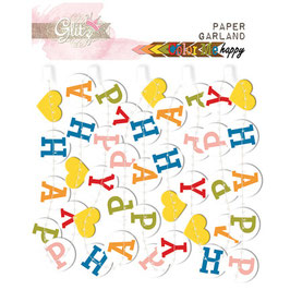 Glitz Design: Color Me Happy Paper Garland