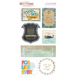 Glitz Design Uncharted Waters Title Stickers