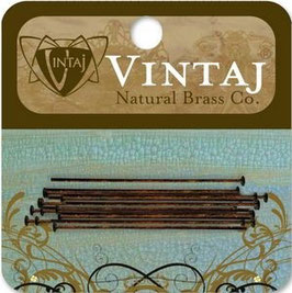 "Vintaj Natural Brass 1.5"" Headpins"