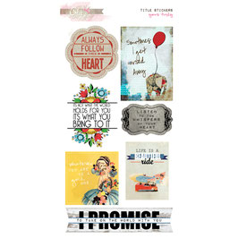 Glitz Design Yours Truly Title Stickers