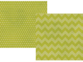 Simple Stories Daily Grind: Green Chuncky Chevron/Dots