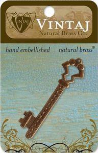 Vintaj Natural Brass Gate Key