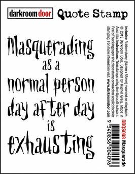 Darkroom Door Quote Stamp: Masquerade