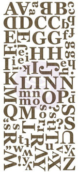 Prima Wood Veneer Alphabets : Dark
