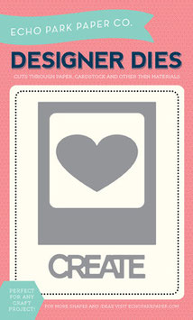 Echo Park Designer Dies Photo Card, Heart & Create