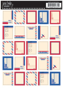 Jenni Bowlin Postage Stamp Stickers - Airmail