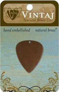 Vintaj Natural Brass Altered Blanks - Guitar Pick