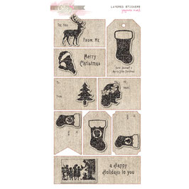 Glitz Design Joyeux Noel Layered Stickers