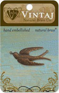 Vintaj Natural Brass Soaring Sparrow