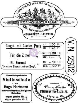 Finnabair Clear Stamp: Musica (0933)
