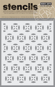 Hero Arts/BasicGrey Medallion Patterned Stencil