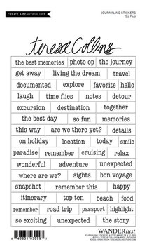 Teresa Collins Wanderlust Journaling Sticker Sheet