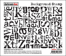 Darkroom Door Background Stamp: Alphabet