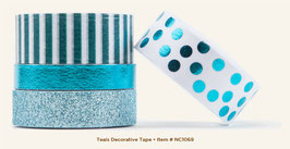 MME Necessities Teals Decorative Tape