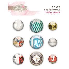 Glitz Design Yours Truly Giant Rhinestones
