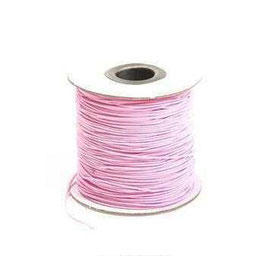Coloured Elastic Cord - Powder Pink