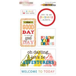 Glitz Design: Color Me Happy Title Stickers