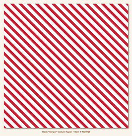 MME Necessities Red Stripes Vellum Paper