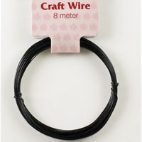 Craft Wire 24 gauge (0.5mm) - Black