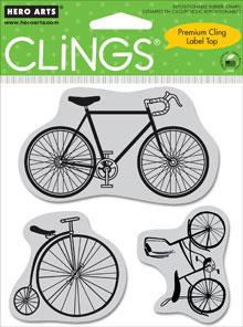 Hero Arts Clings - Bicycles