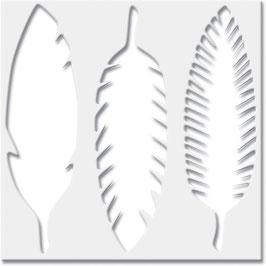 Jenni Bowlin Stencil : Feathers