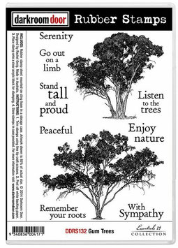 Darkroom Door Stamp Set: Gum Trees