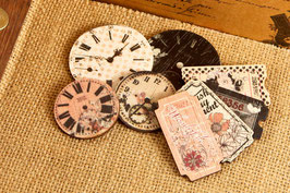 Prima Wood Clocks & Tickets - Rondelle