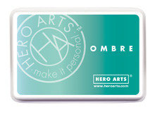 Hero Arts Ombre Ink Pad: Mint to Green