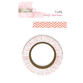 Glitz Design Washi Tape - Hello Friend Coral Chevron