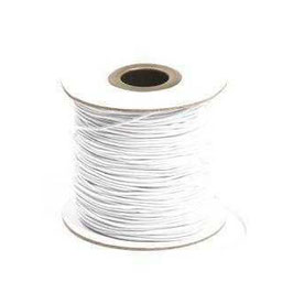 Coloured Elastic Cord - White