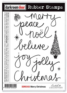 Darkroom Door Stamp Set - Merry Christmas