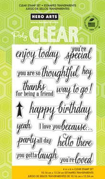 Hero Arts Clear Stamps: Enjoy Today CL759