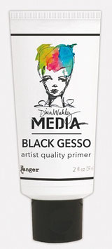 Dina Wakley Media Line Black Gesso 2oz Tube