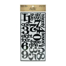 Tim Holtz Idea-ology Alpha Parts Numeric