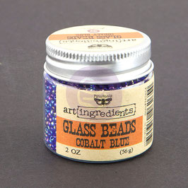 Art Ingredients Glass Beads -Colbalt Blue