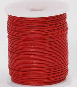 Red waxed cord