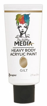 Dina Wakley Media Line Heavy Body Acrylic: Gilt