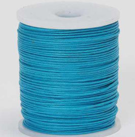 Turquoise waxed cord