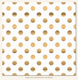 MME Necessities Metallic Dot Foiled Vellum Paper