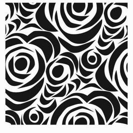 Julie Fei-Fan Balzer Stencil: 6x6 Echoes