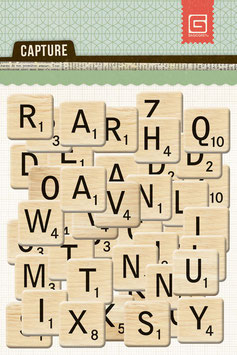 BasicGrey Capture Printed Chipboard Alphabet