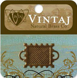 Vintaj Natural Brass 22mm Memoir Stamp Bezel