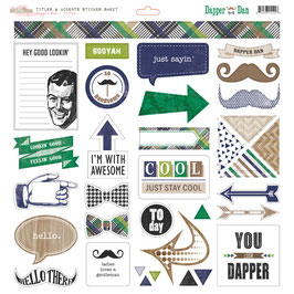 Glitz Design Dapper Dan: Title & Accent Stickers