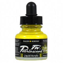 DR Pearlescent Acrylic Ink - Hot Cool Yellow
