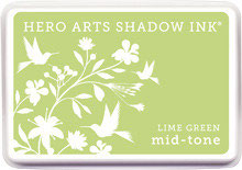 Hero Arts Lime Green Mid Tone Shadow Ink Pad