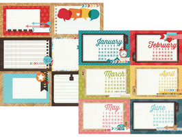 Simple Stories Daily Grind: 4x6 Horizontal Journaling Card Elements 1