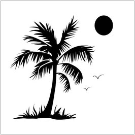 Crafters Workshop Templates - 6x6 Palm Tree