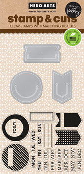 Kelly Purkey: Kelly's Planner Clips Stamp & Cut